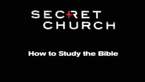 Secret church banner