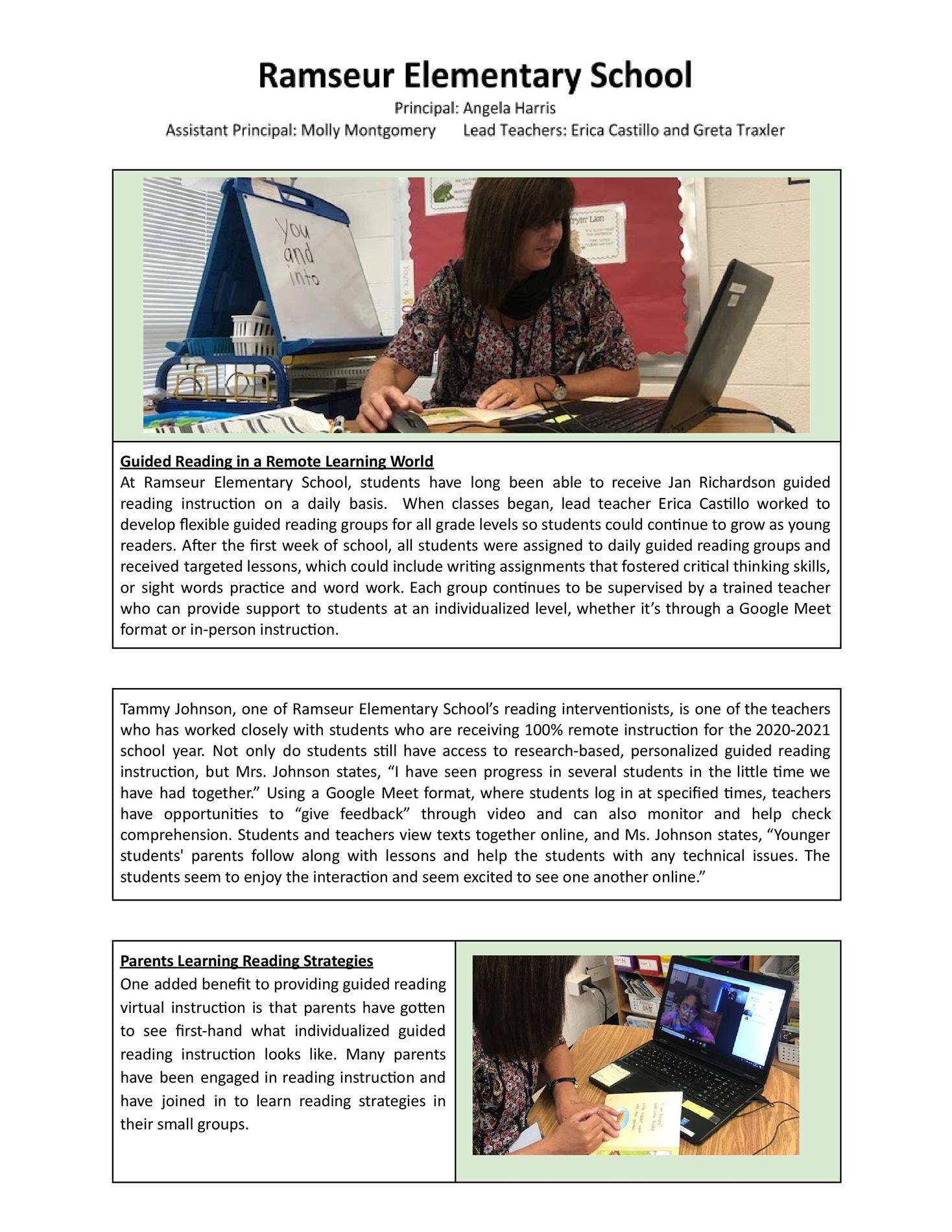 Remote Learning in Guided Reading
