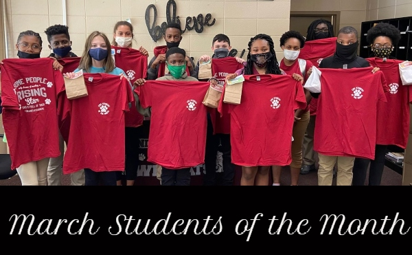 Students of the Month March