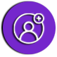 button with person icon
