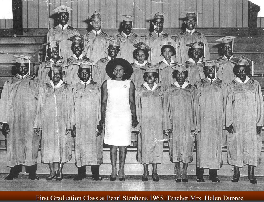 The Class of 1965 was the first graduation class at Pearl Stephens School.