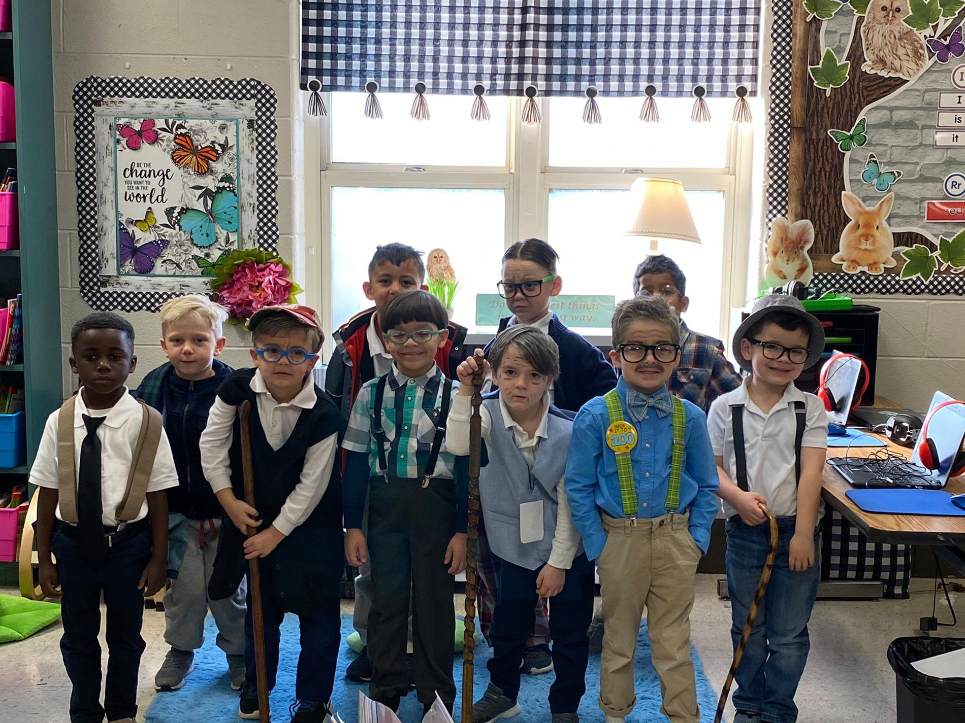 100 Year Olds on 100th Day of School