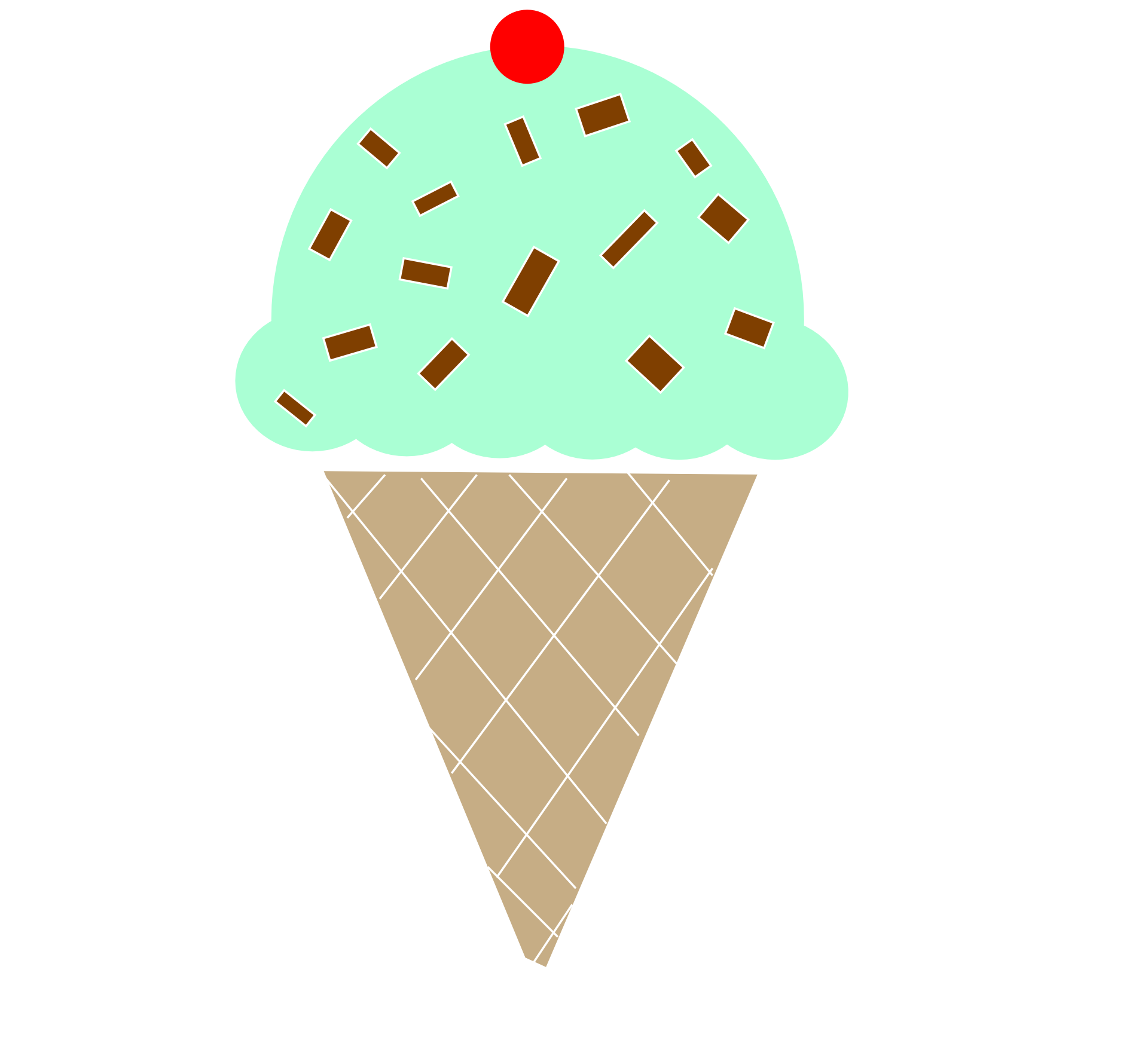 mint ice cream cone