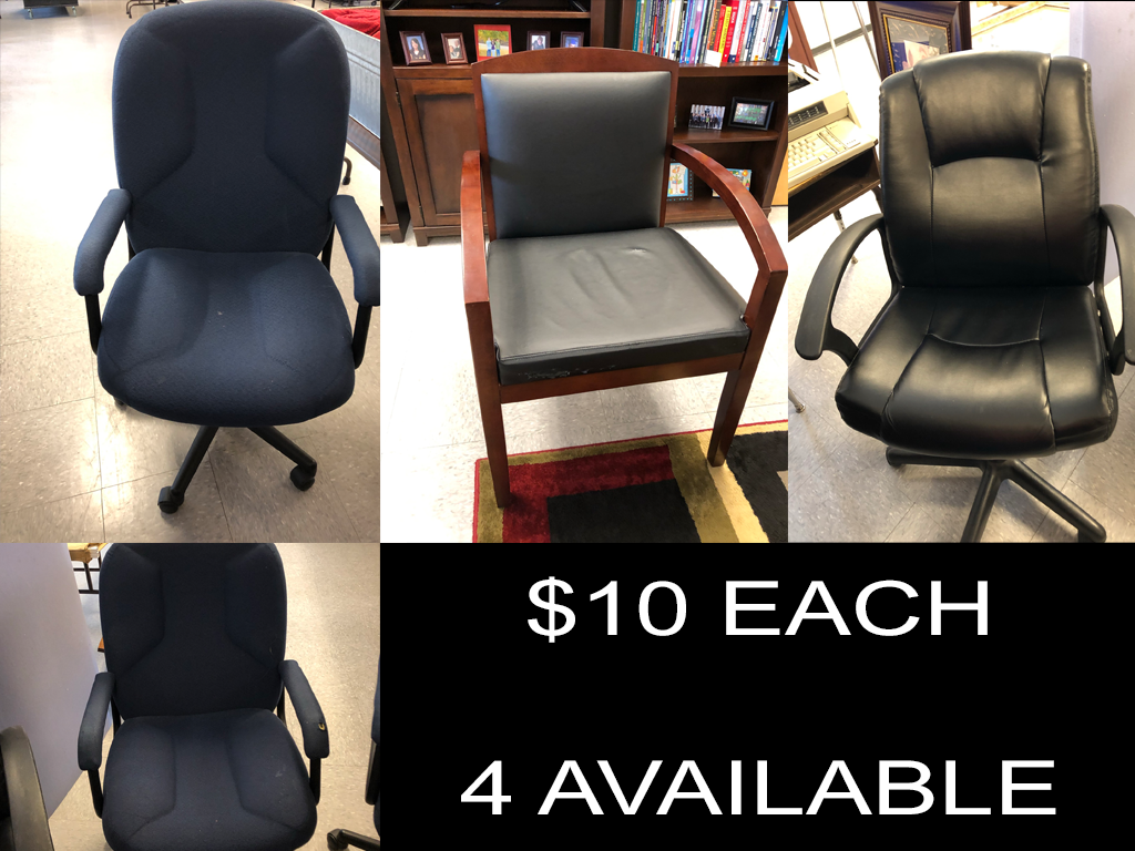 $10 Office Chairs (4 available)