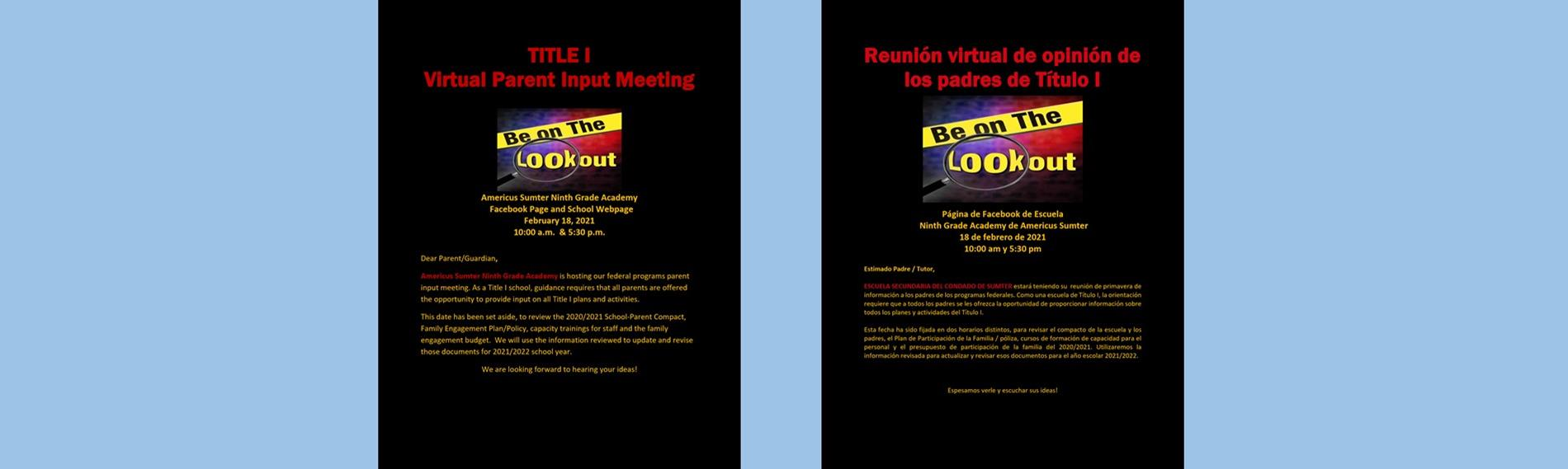 Invitation to attend virtual meeting