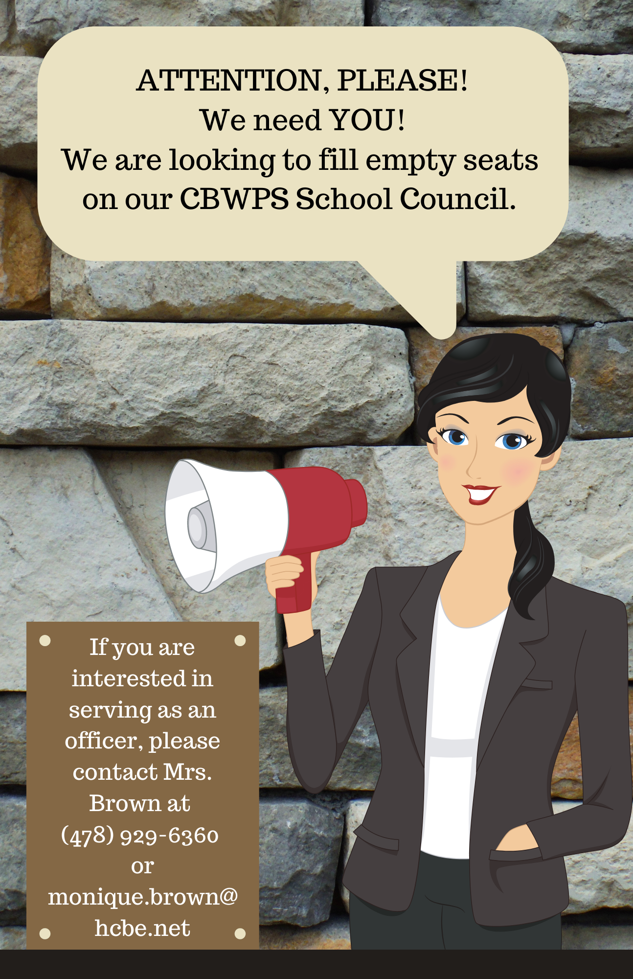 We Need You on School Council!