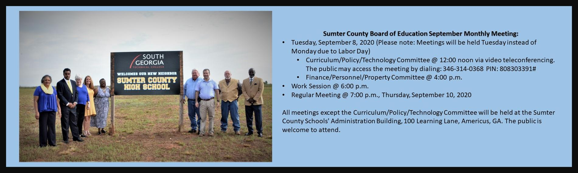 September BOE Meeting