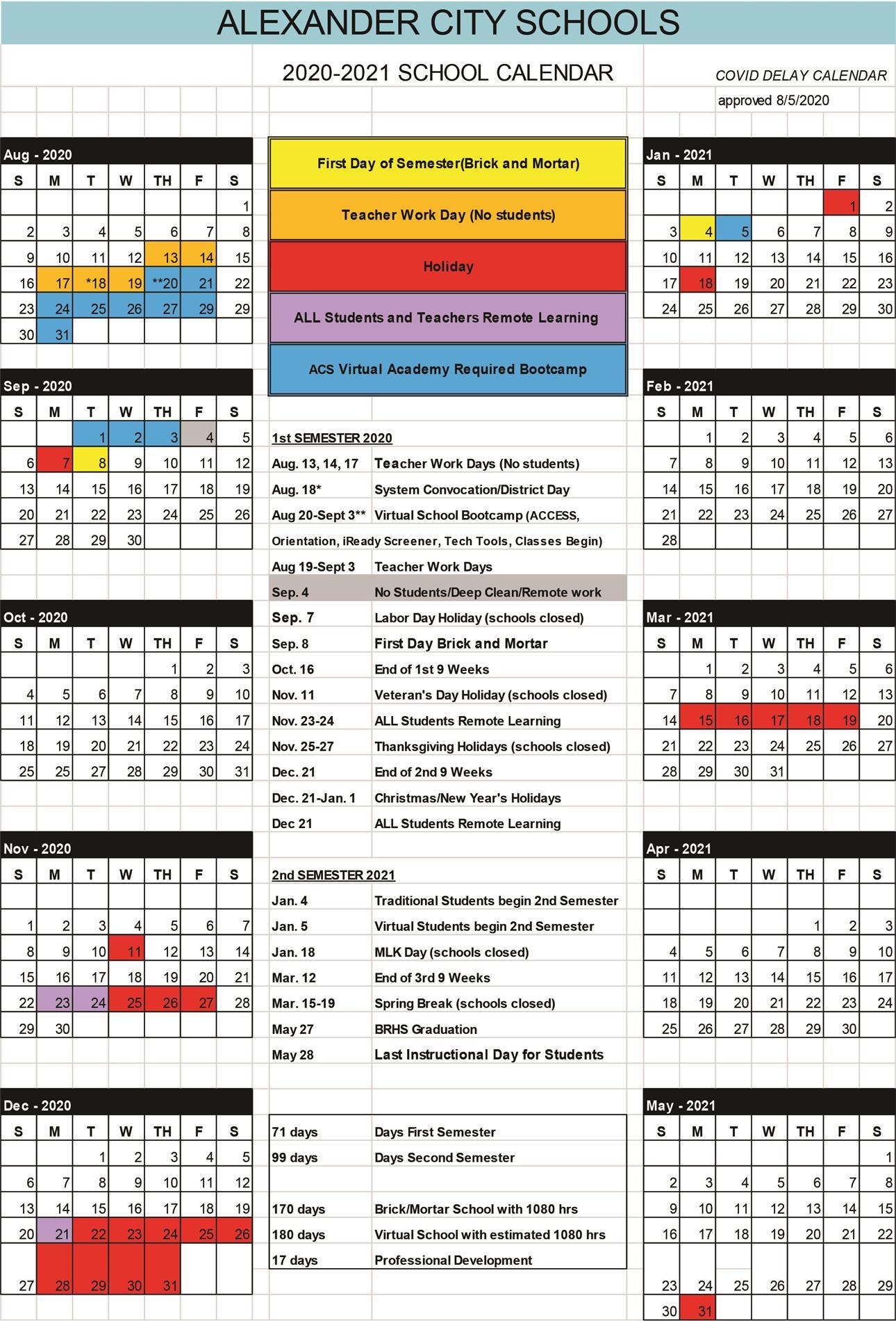 2020-2021 ACS Calendar