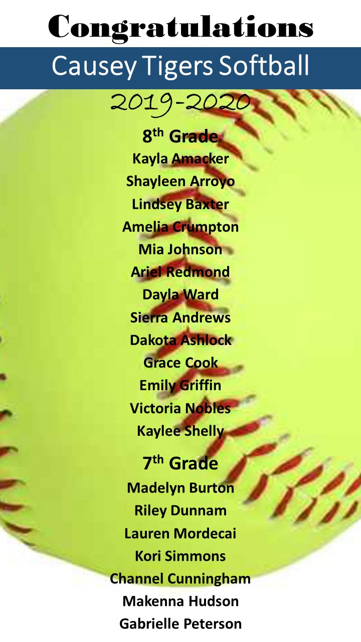 Softball Team Roster
