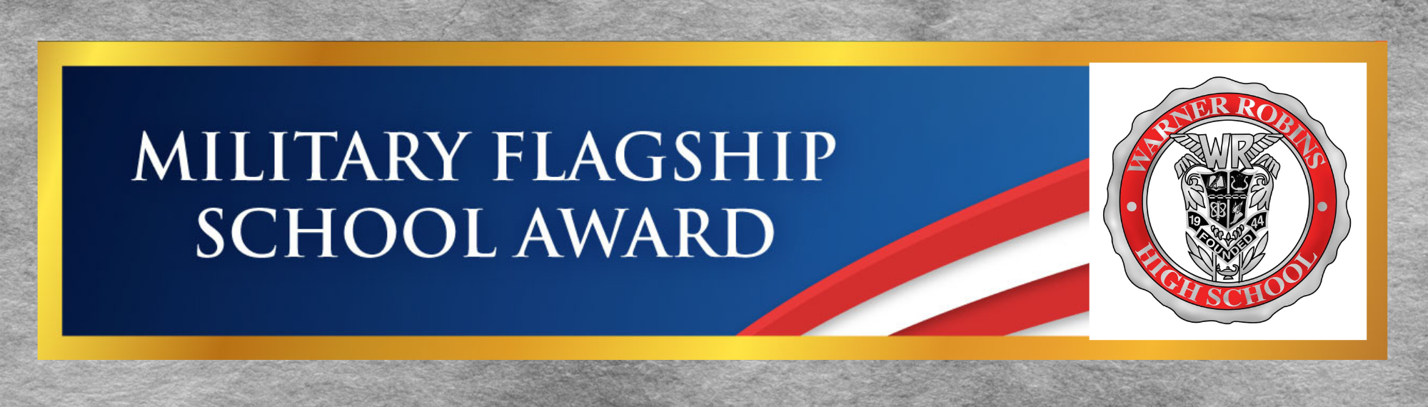 Military Flagship School Award Banner 3-21
