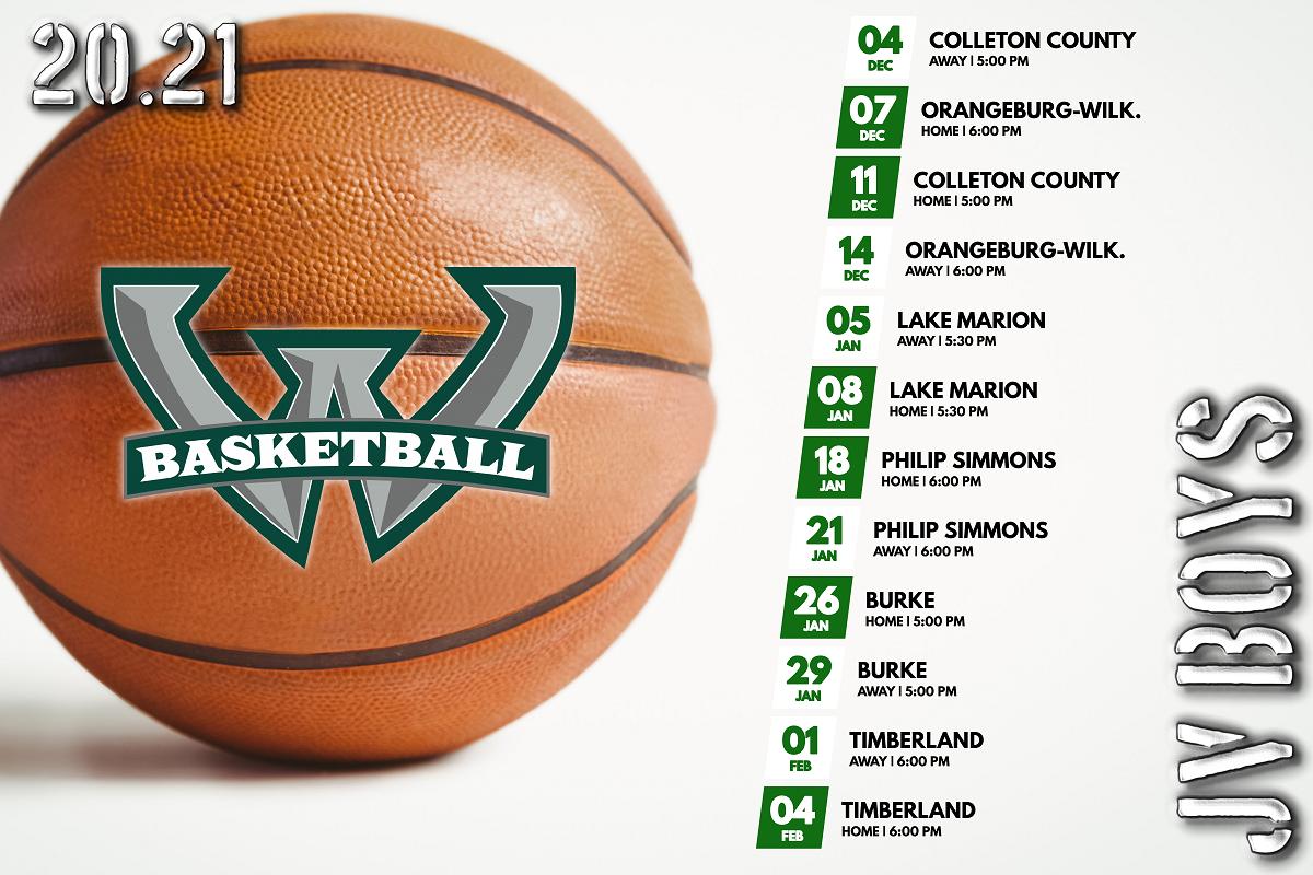 JV Boys Basketball Schedule