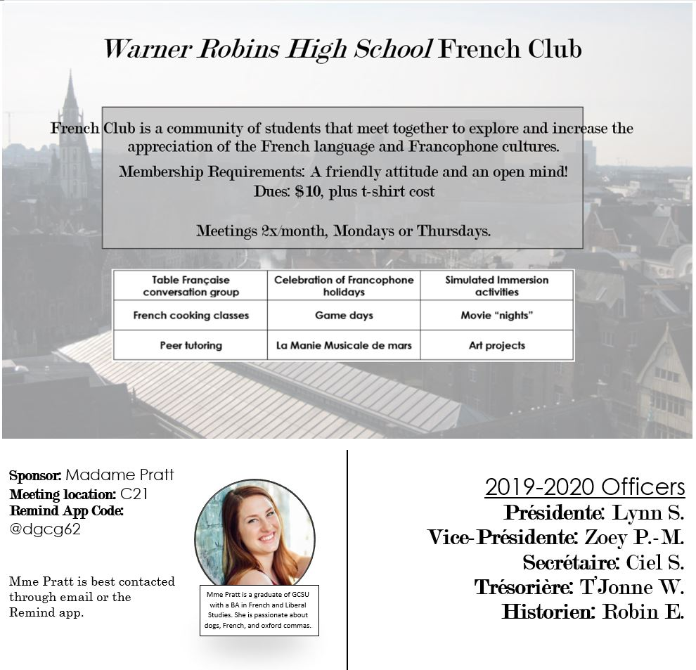 French Club information