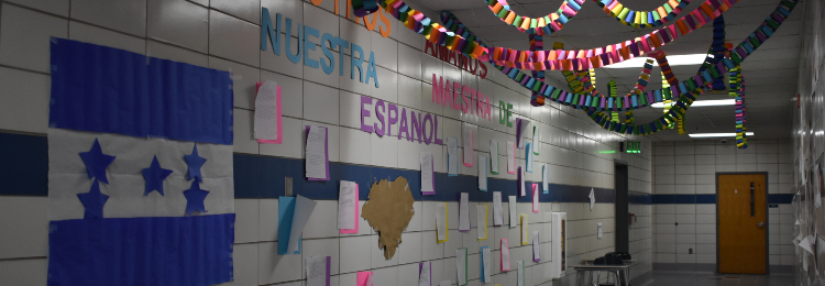 Decorated hallway for Ms Johnson