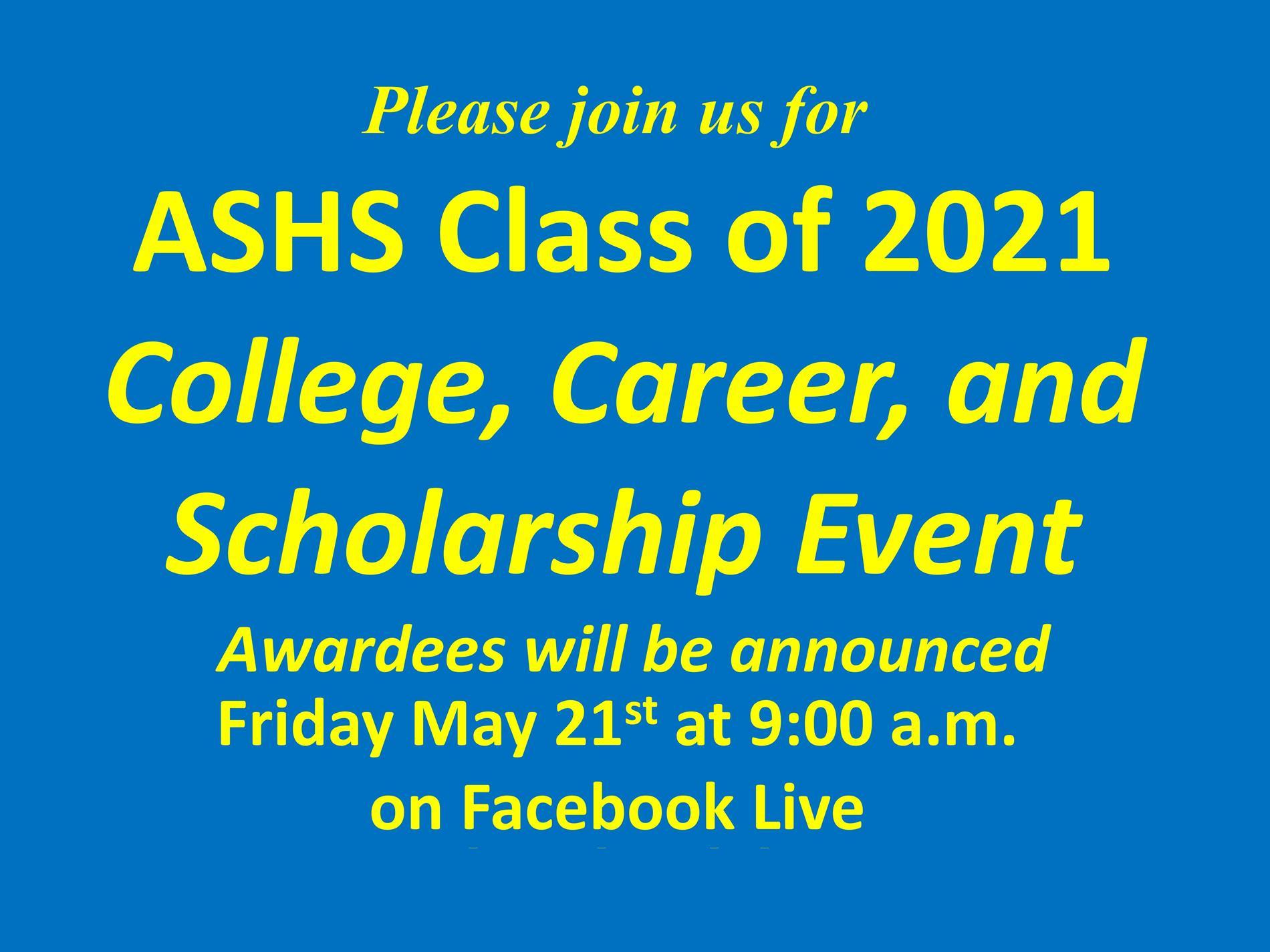 college scholarship announcement