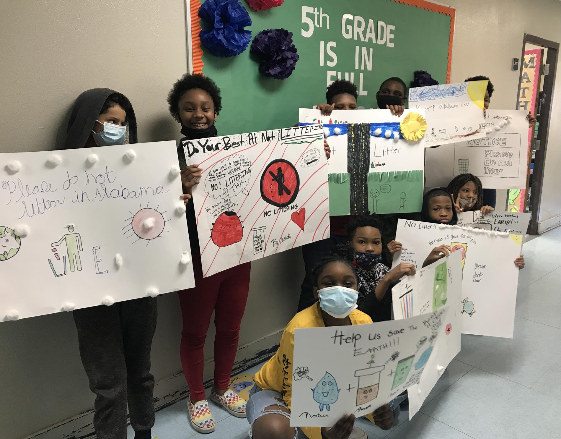 Posters fro Clean Campus Campaign 5th Grade Shanlever