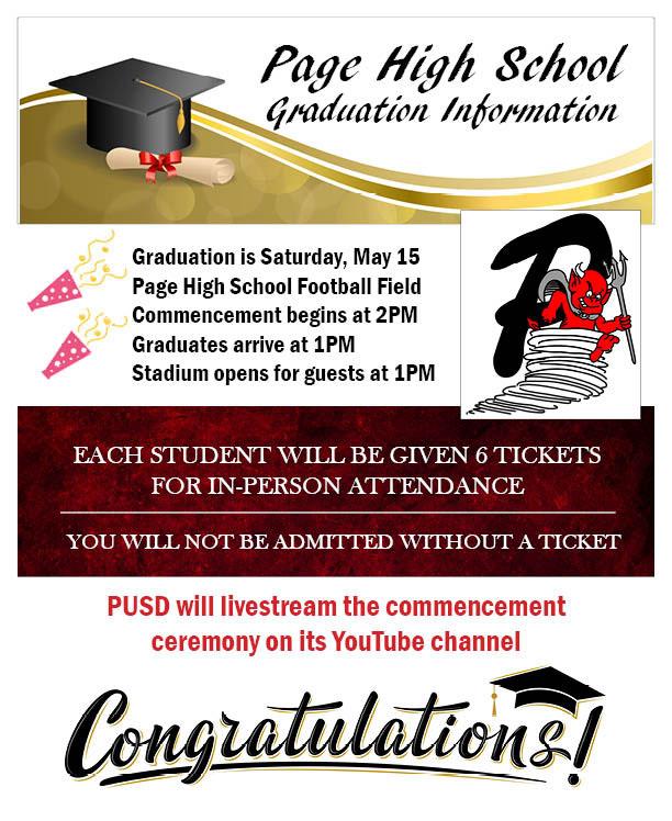 PHS graduation information