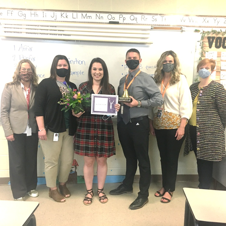NES Teacher of The Year Allison Collier Photo Courtesy of WJLE