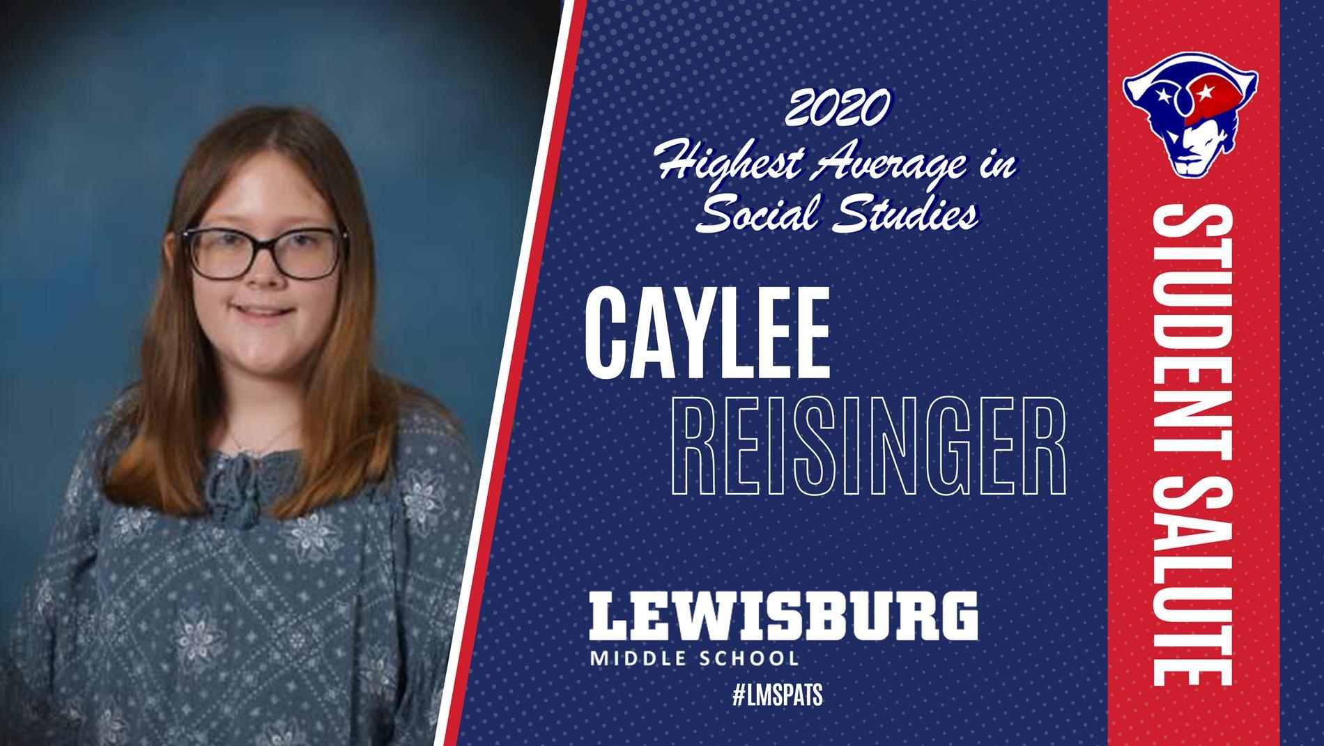 Congrats Caylee!