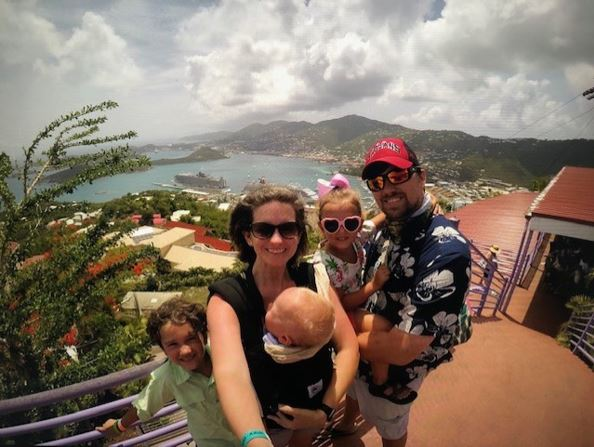 The Johnson Family in St. Thomas