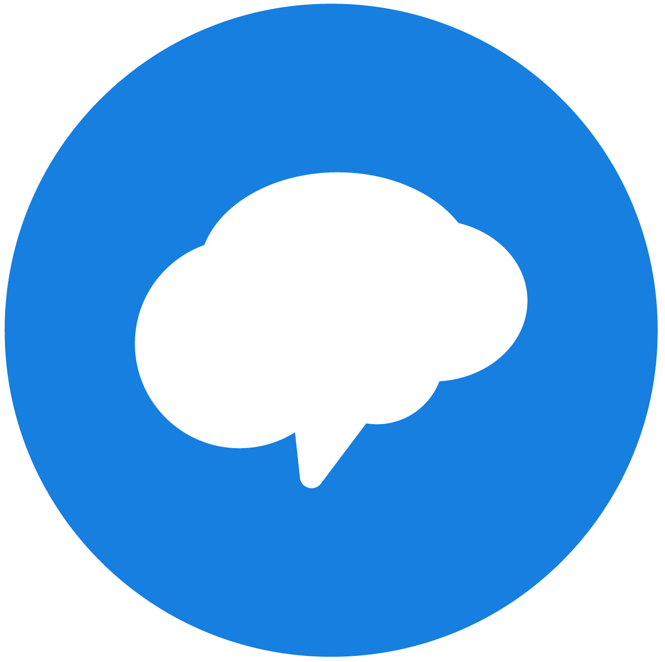 REMIND app icon: blue background with white cloud talk bubble