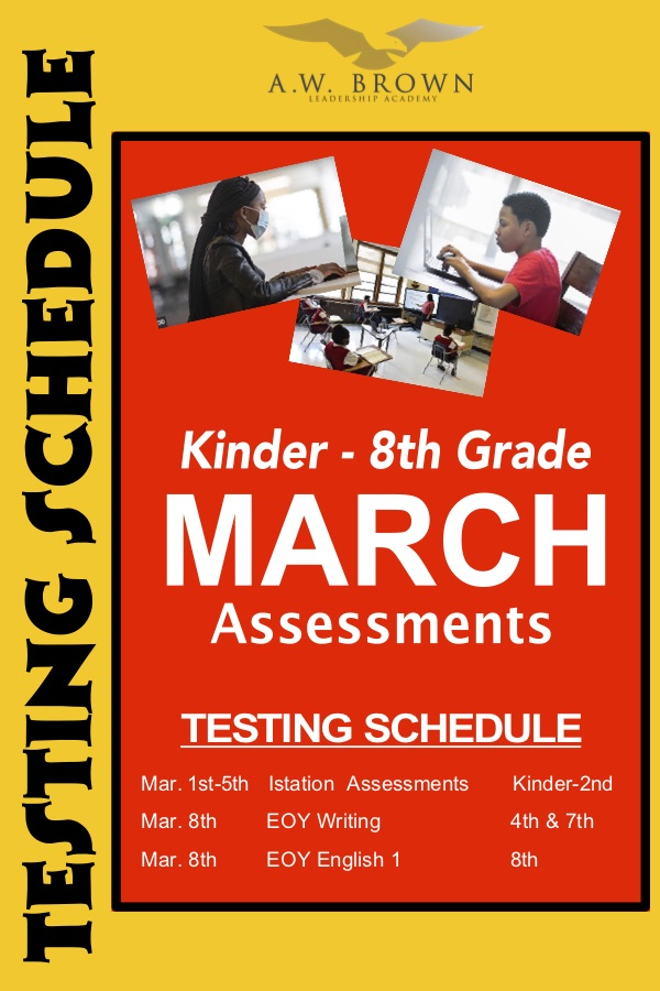 March Assessment Schedule