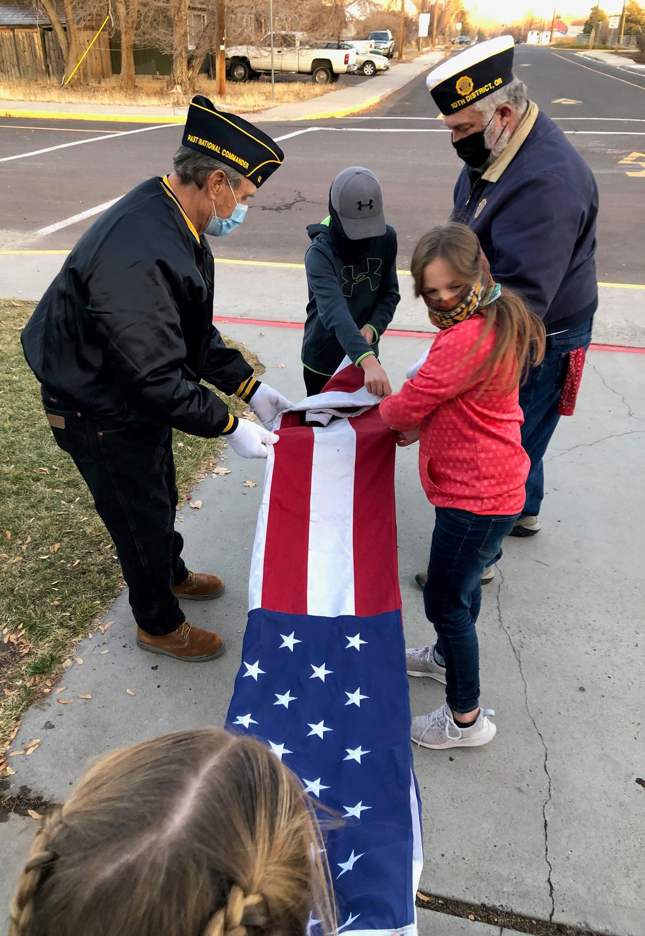 Student Council folds our Flag