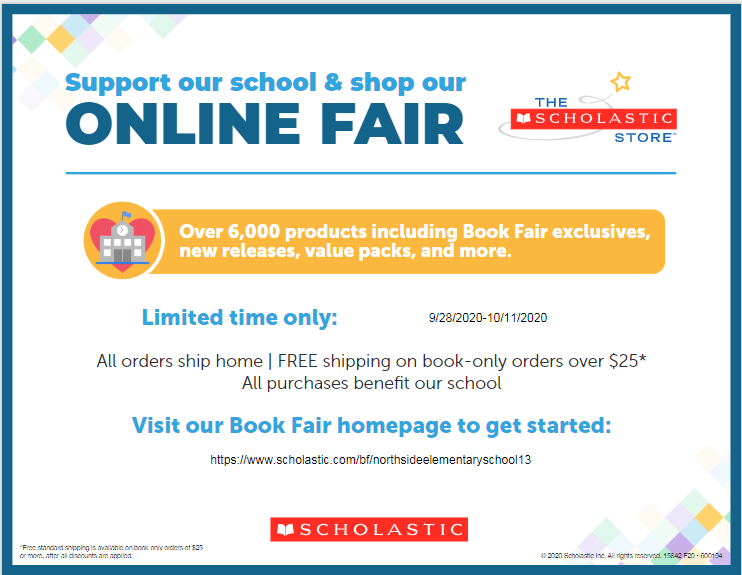 Support our School and shop our online book fair...Sept. 28 thru October 11