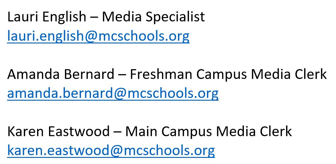 Media Staff Email Addresses
