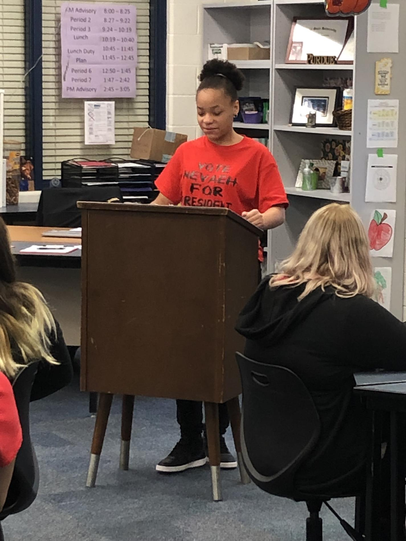 NJHS Officer Speeches and Election