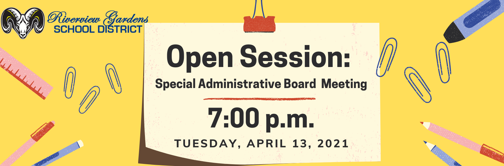 Open Meeting Special Administrative Board