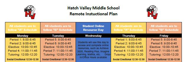 Schedule English