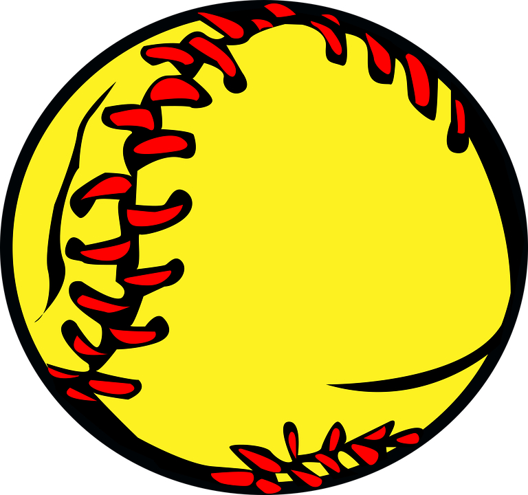 Cartoon yellow softball