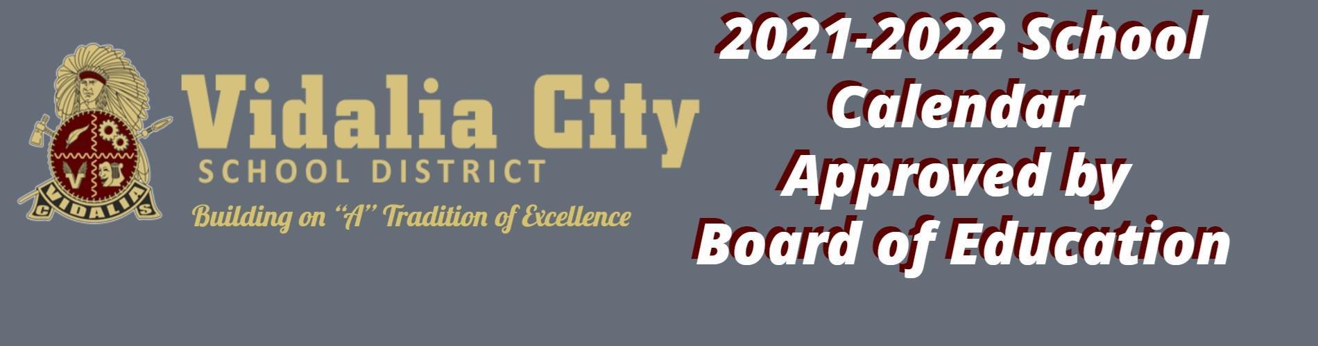 2021/2022 School Calendar Released