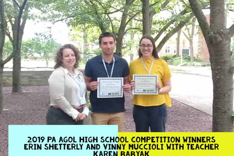 2019 PA AGOL HS Competition Winners