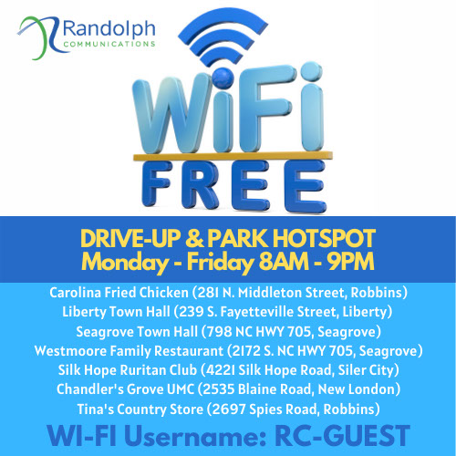 Free WiFi hotpsots