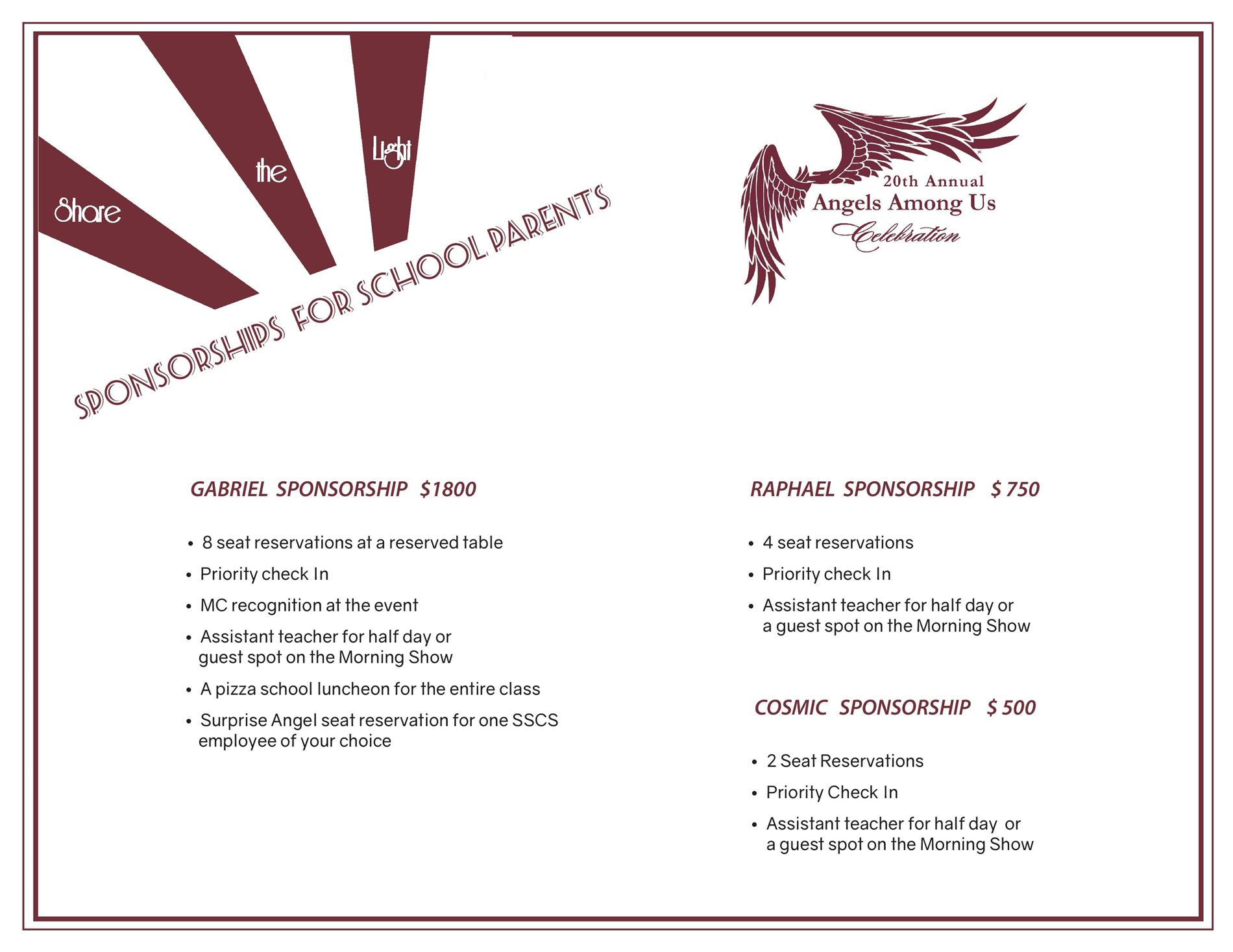 Sponsorships for School Parents