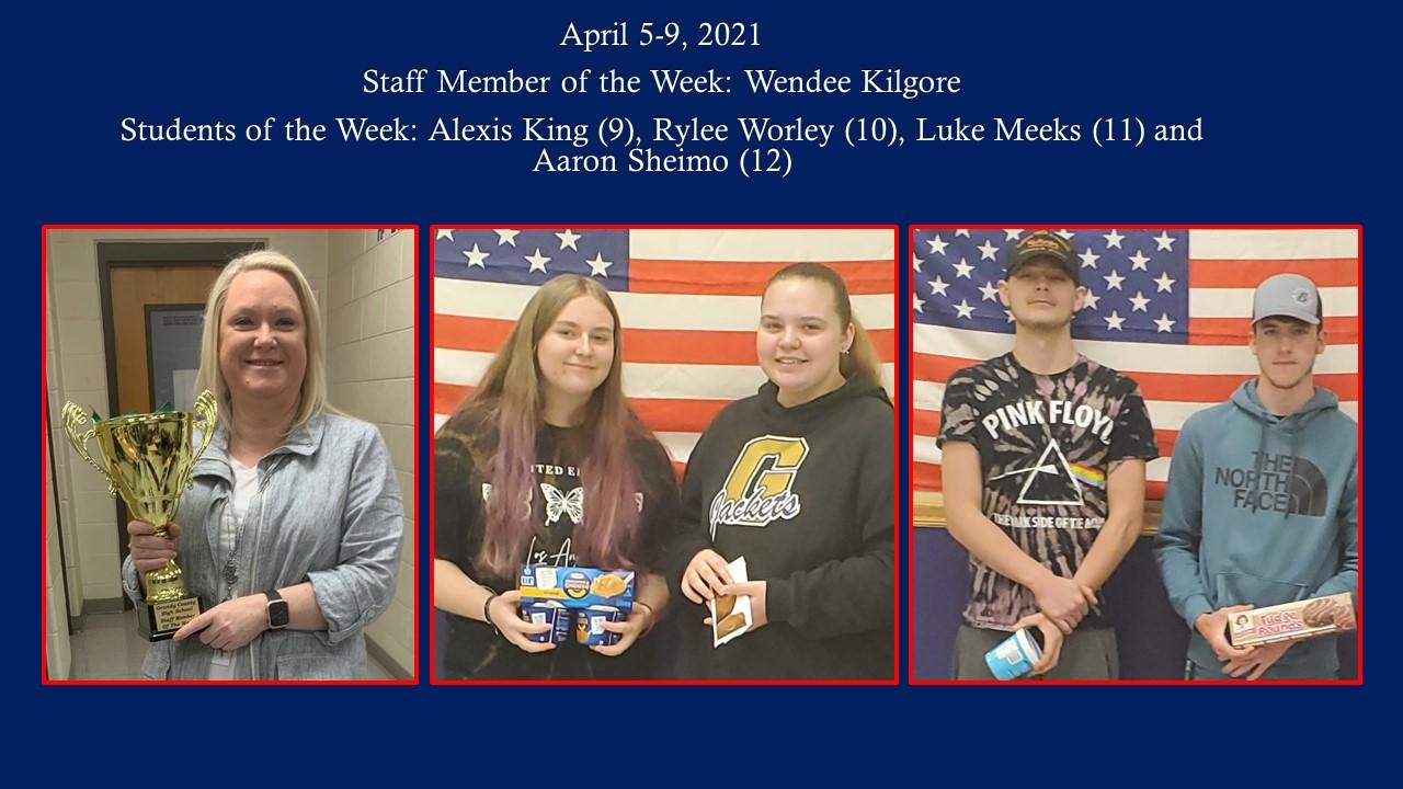 April 5-9 Students/staff pix