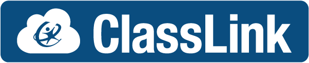 ClassLink Logo with Blue Background and ClassLink written in white letters