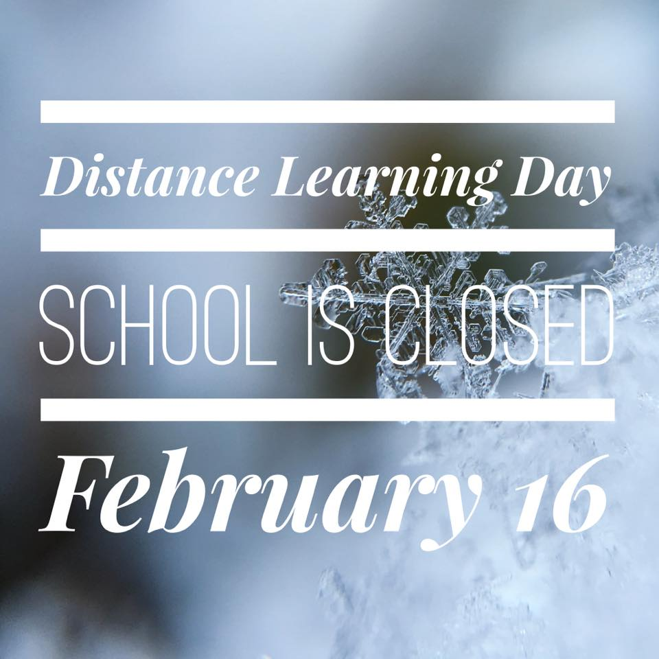 School will be closed February 16, 2021 due to road conditions.