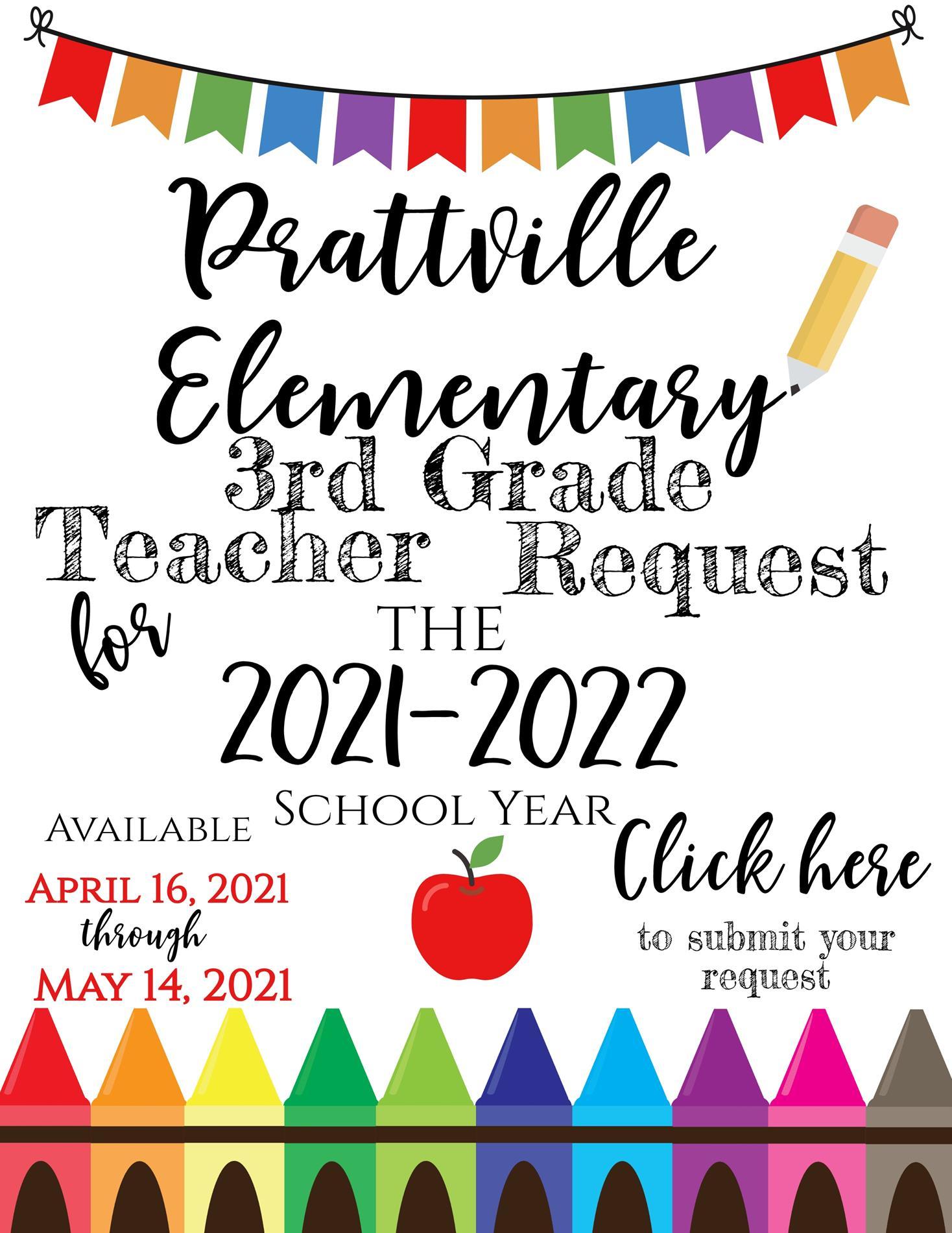 3rd Grade Teacher Request
