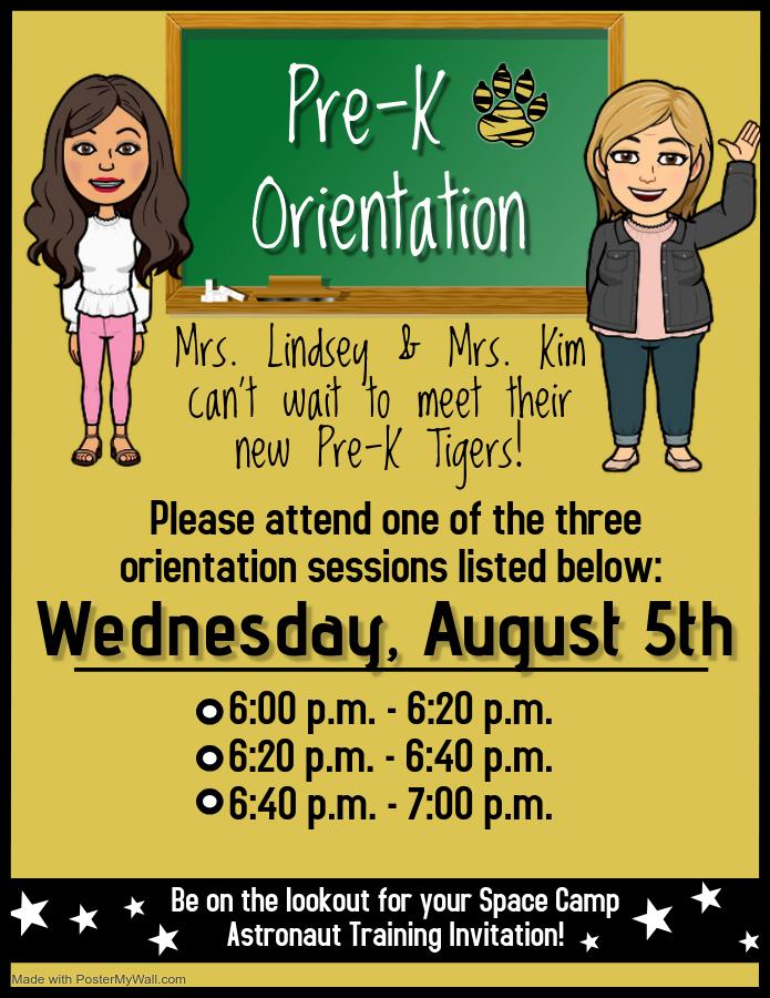 Pre-K Open House Flyer