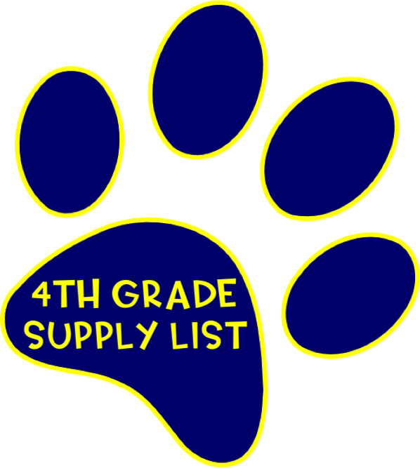 4th supply list