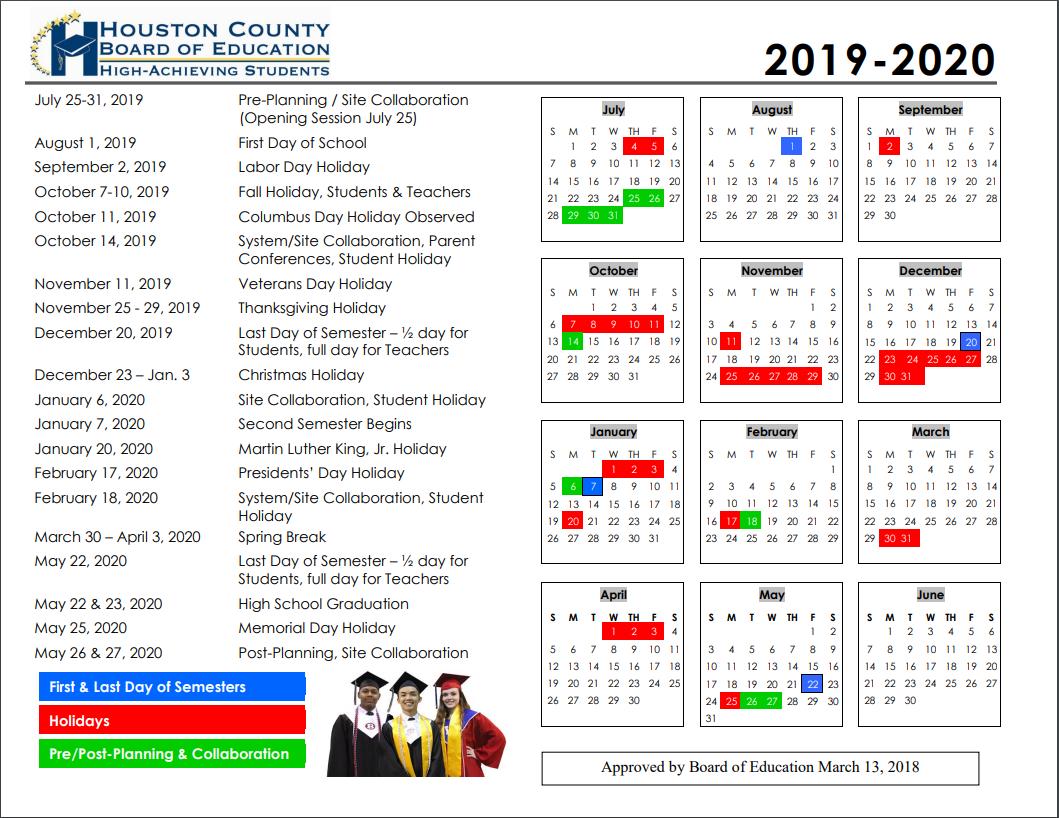 2019-2020 Calendar Image