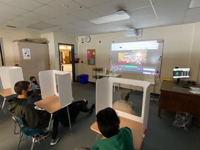 Alan Gratz in Classroom