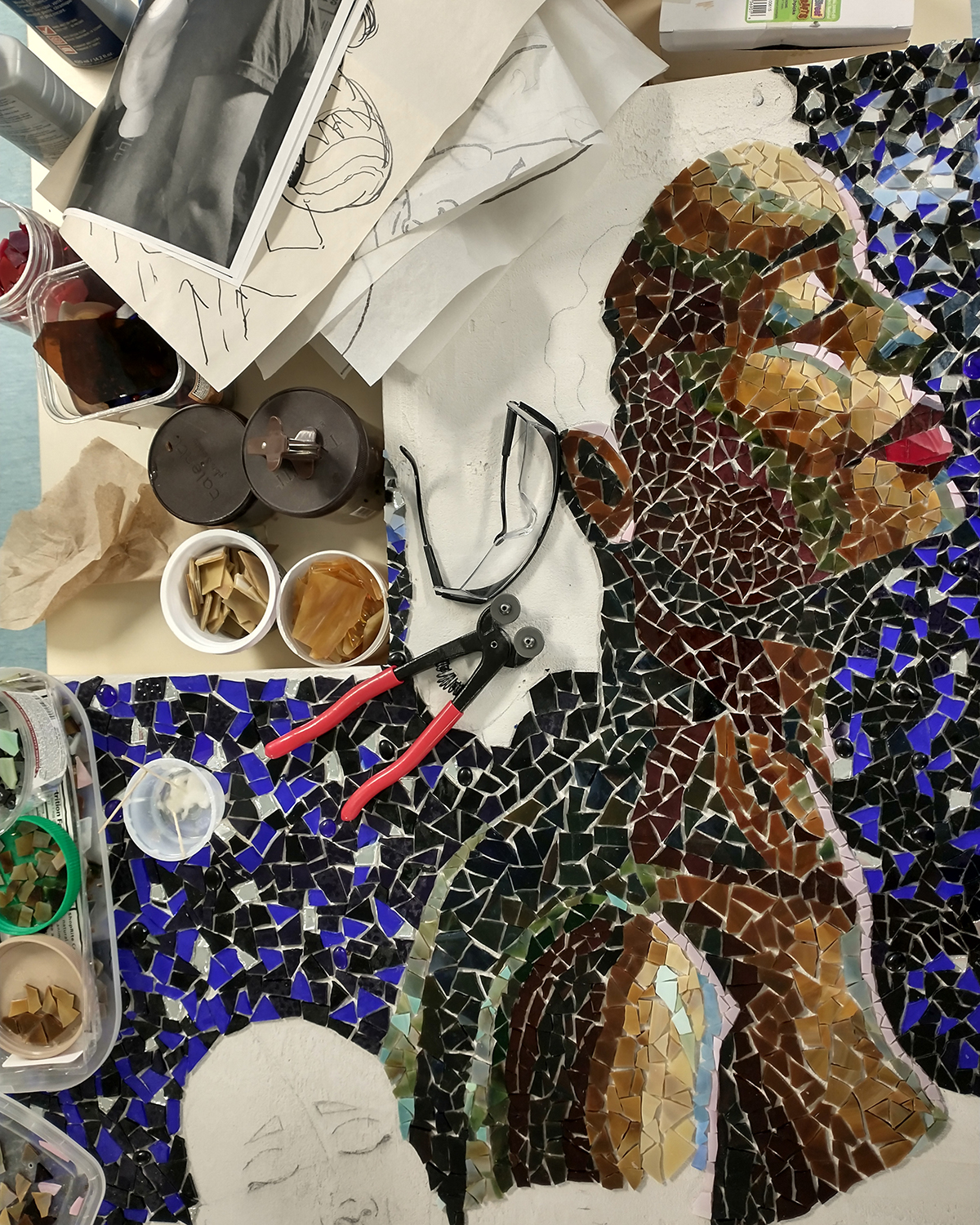 Mosaic in process