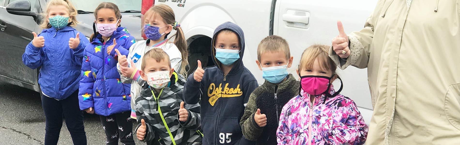Stewartstown kids in masks