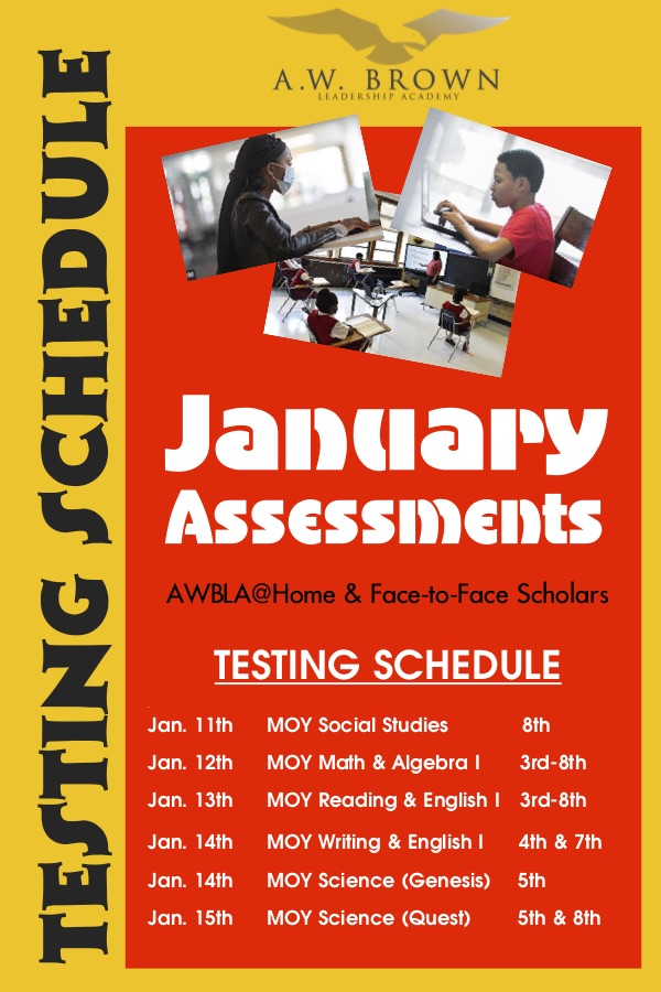 MOY Testing Schedule