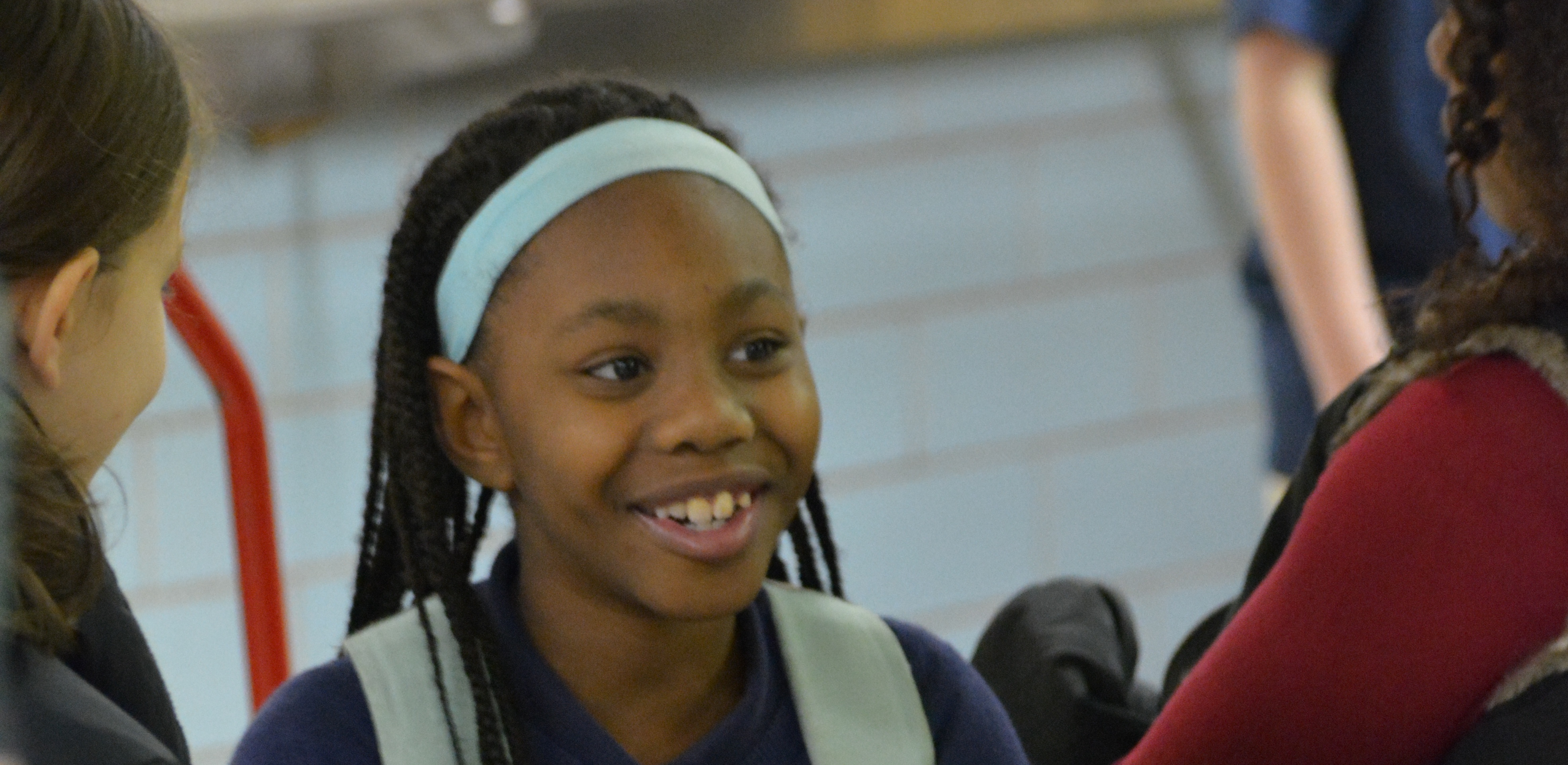 Inspire Academy student, smiling