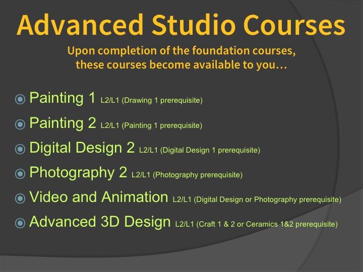 Advanced Studio Courses