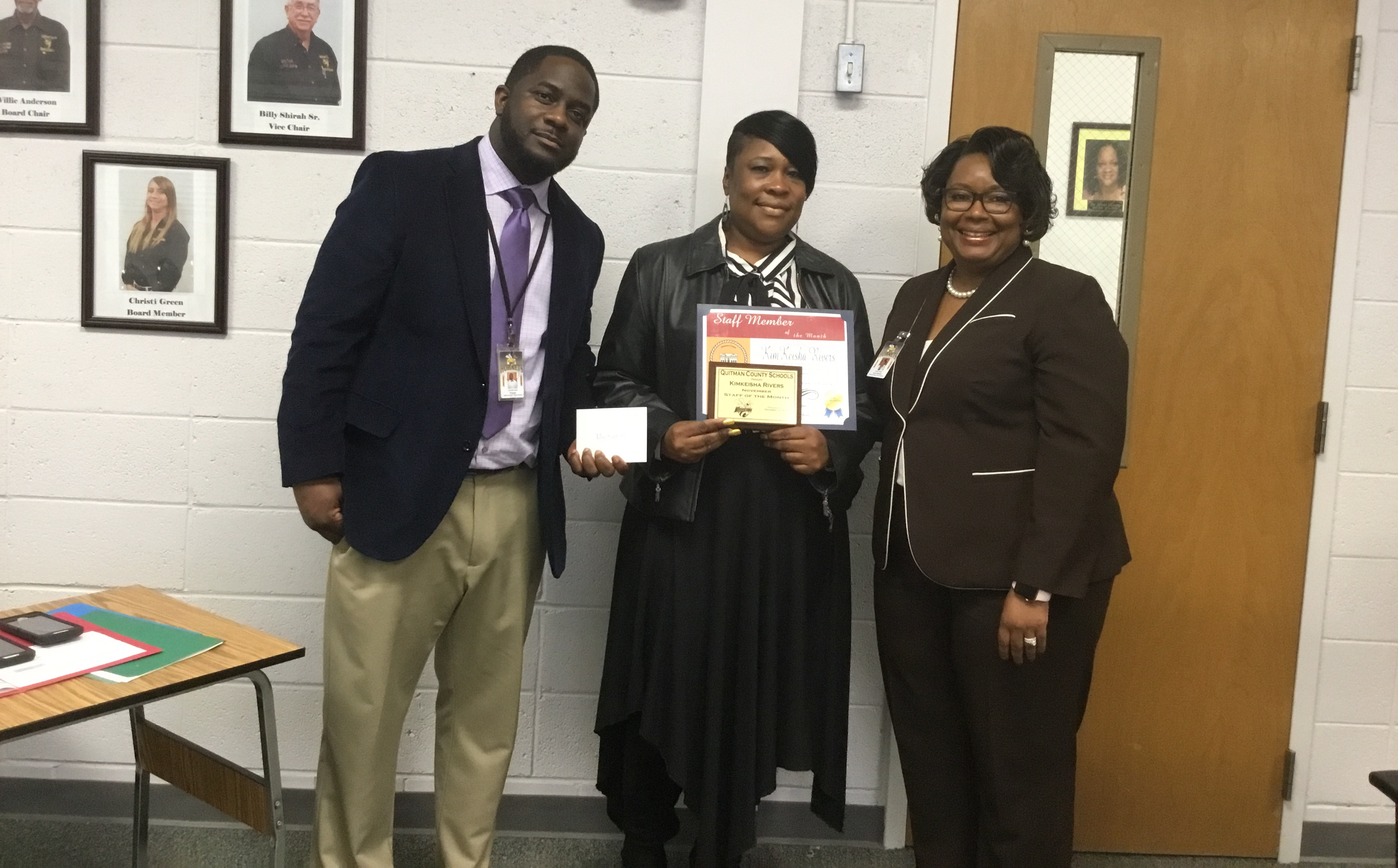 December Board Meeting - November 2019 Staff of the Month - Ms Kimkeisha Rivers